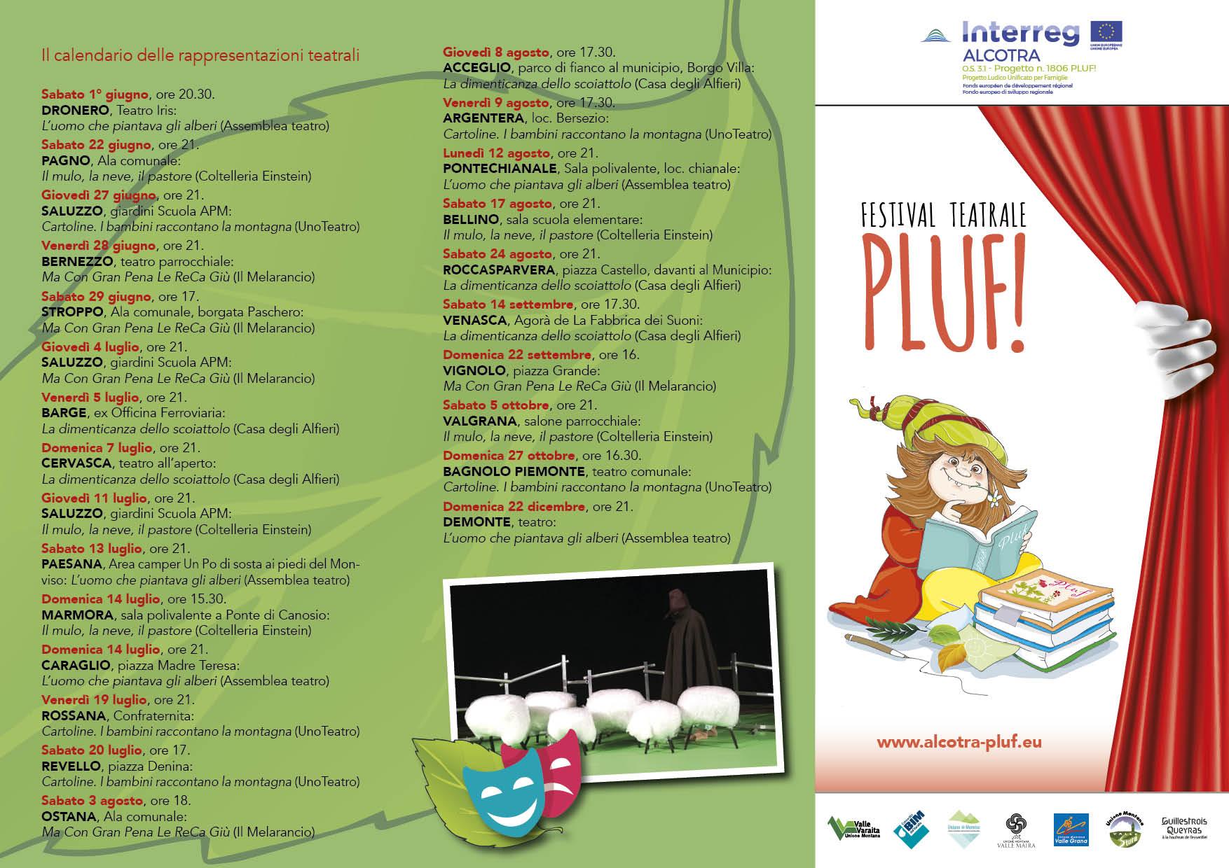 Il calendario delle rappresentazioni teatrali