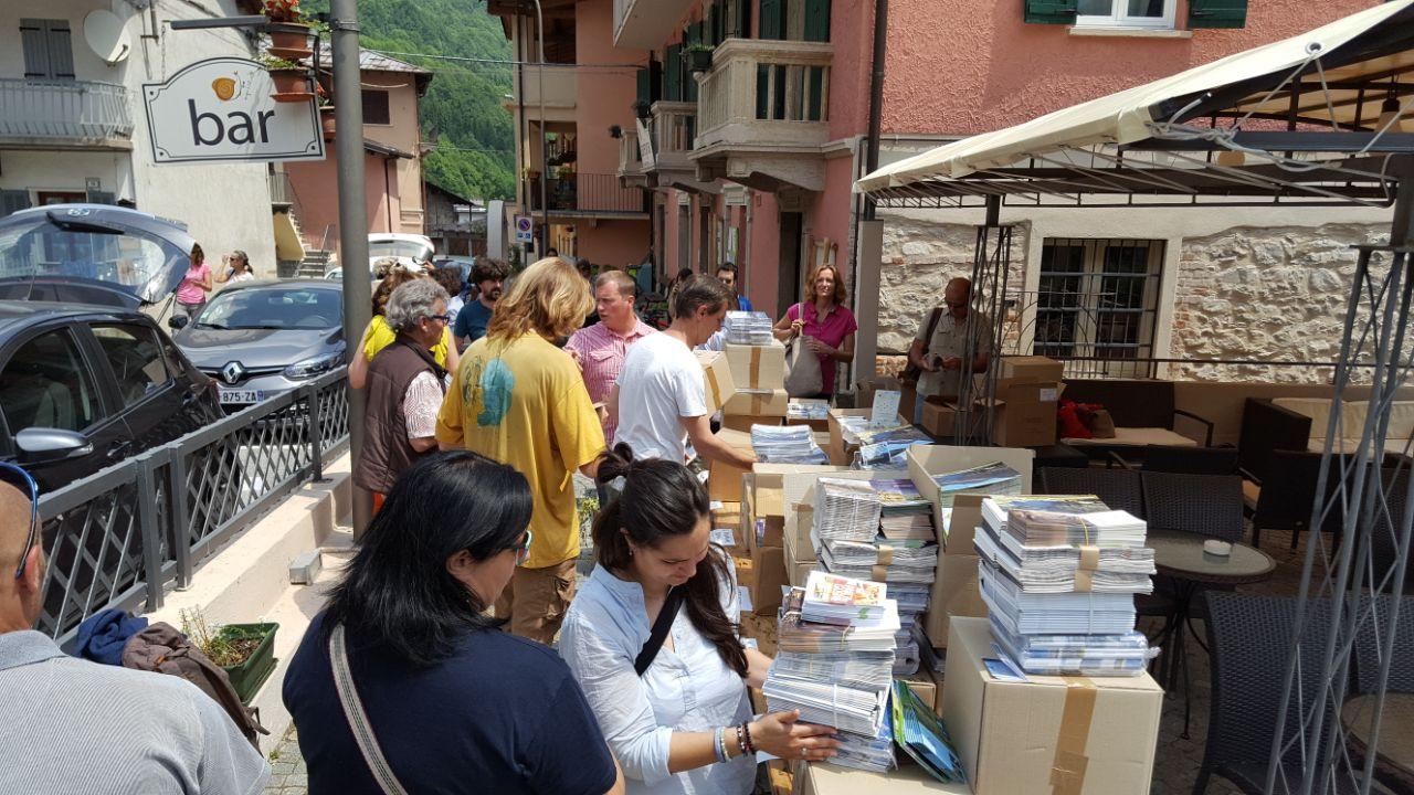La distribution des matériels informatifs